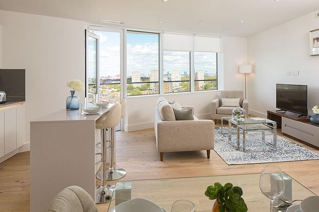 "Thumbnail Flat for sale in ""Lombard Wharf"" at Lombard Road, Battersea, London"
