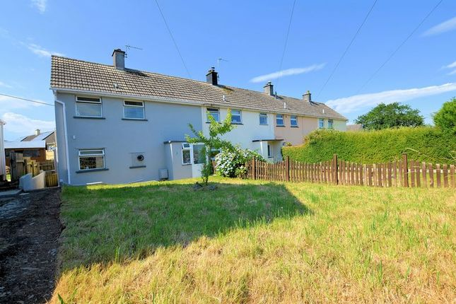 Thumbnail End terrace house for sale in Broad Park Road, Bere Alston, Yelverton