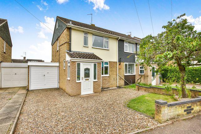 Thumbnail Semi-detached house for sale in Lodore Avenue, Hellesdon, Norwich