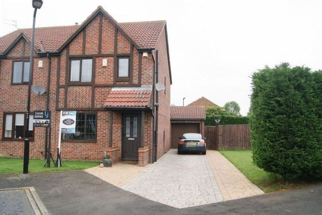 Thumbnail 3 bed semi-detached house for sale in Ullswater Drive, Killingworth, Newcastle Upon Tyne