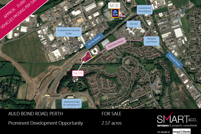 Thumbnail Land for sale in Auld Bond Road, Perth