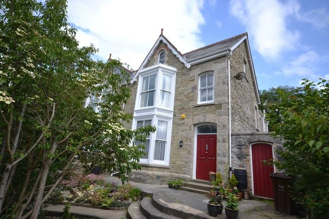 Thumbnail Semi-detached house for sale in Tregolls Road, Truro