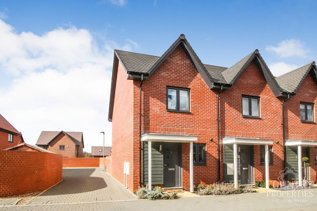 Thumbnail End terrace house for sale in Gillspenny Way, Wootton, Bedford