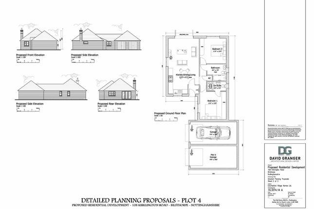 Thumbnail Detached bungalow for sale in Kirklington Road, Bilsthorpe, Newark