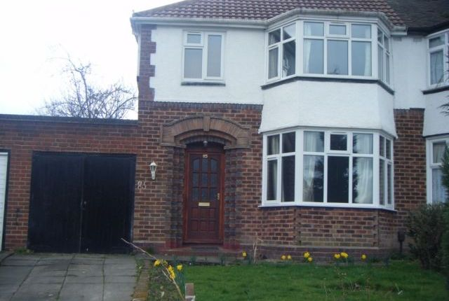 Thumbnail Semi-detached house to rent in Denewood Ave, Handsworth Wood, Birmingham, West Midlands