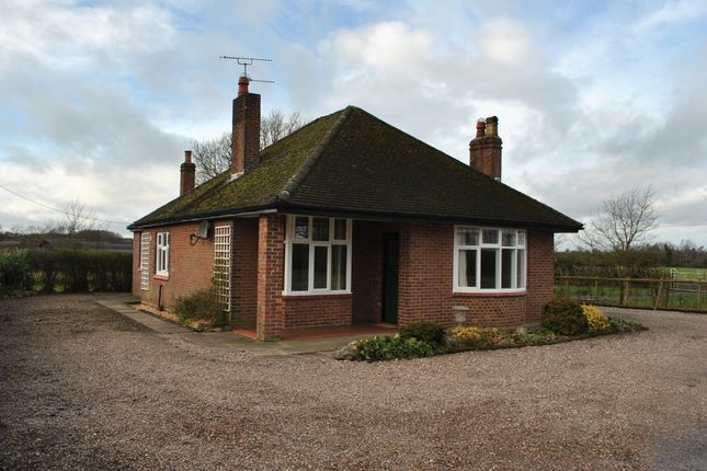 Thumbnail Detached bungalow to rent in Sheppenhall Lane, Aston, Nantwich, Cheshire