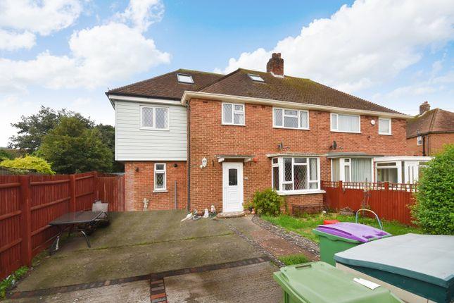 Thumbnail Semi-detached house for sale in Biggins Wood Road, Folkestone