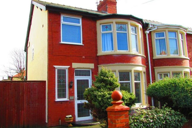 Thumbnail Semi-detached house to rent in Cleator Avenue, Blackpool, Lancashire