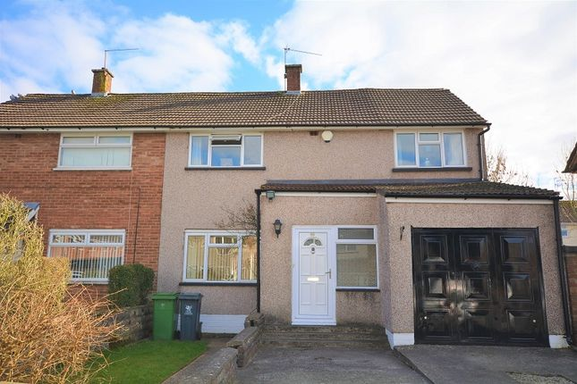 Thumbnail Semi-detached house for sale in Dickens Avenue, Llanrumney, Cardiff.