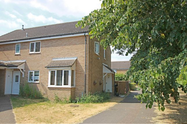 Thumbnail End terrace house for sale in Ferndown Drive, Godmanchester