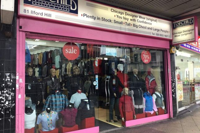 Thumbnail Retail premises for sale in Ilford Hill, Ilford