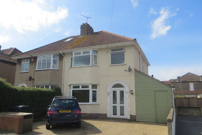 Thumbnail Semi-detached house for sale in Shaftesbury Road, Weston Super Mare
