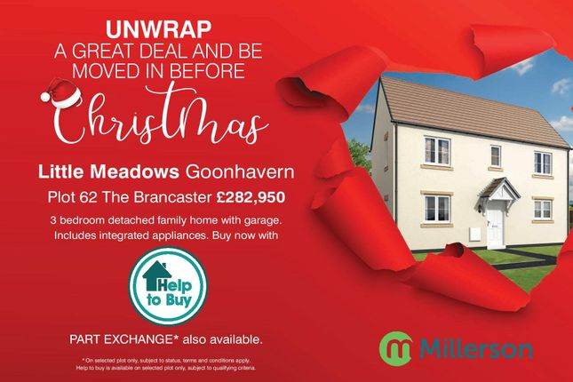 Thumbnail Detached house for sale in Carnebo Hill, Goonhavern, Truro
