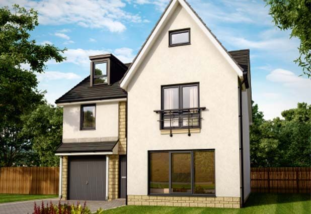 Thumbnail Detached house for sale in The Willow Grand At Bowmont Terrace, Dunbar