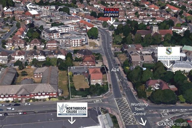 Thumbnail Land for sale in 117 Broadwater Road, Worthing, West Sussex