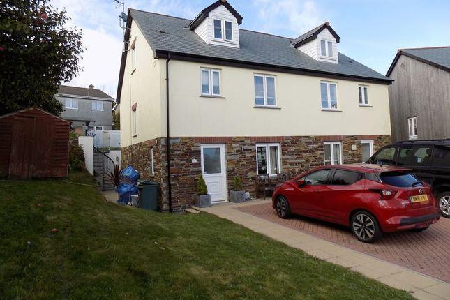 Thumbnail Semi-detached house for sale in Brockstone Road, Boscoppa, St. Austell