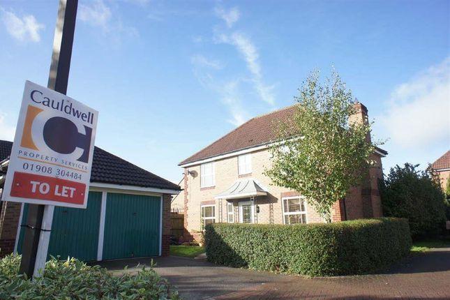 Thumbnail Detached house to rent in Hartland Avenue, Tattenhoe, Milton Keynes