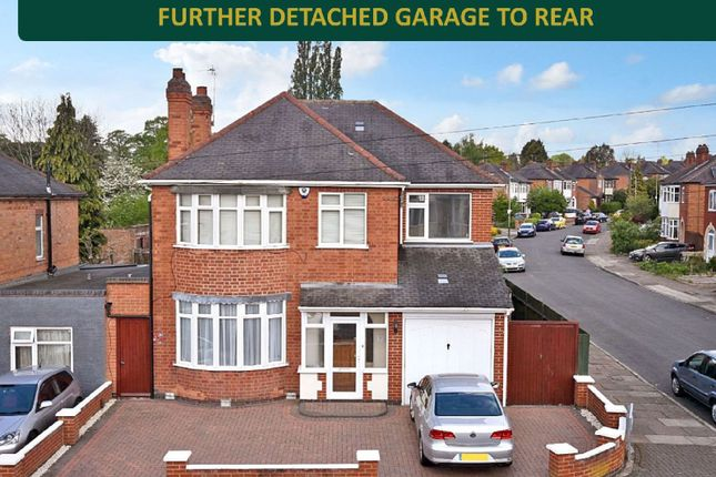 Thumbnail 4 bed detached house for sale in Brinsmead Road, Knighton, Leicester