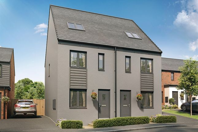 "Thumbnail Semi-detached house for sale in ""The Bickleigh"" at Church Road, Old St. Mellons, Cardiff"