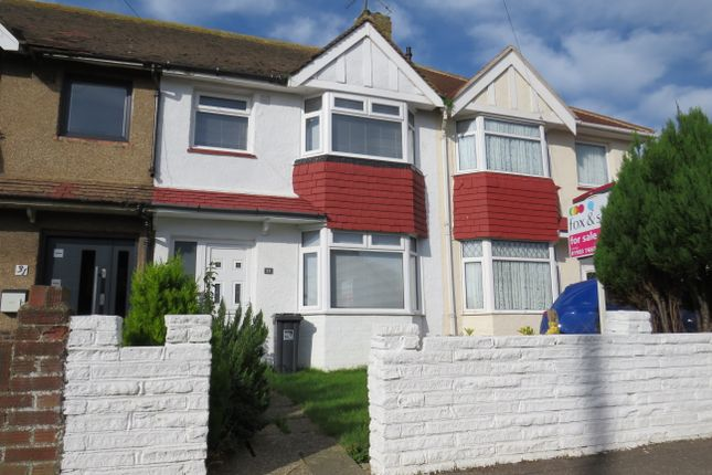 Thumbnail Terraced house for sale in Hillrise Avenue, Sompting, Lancing