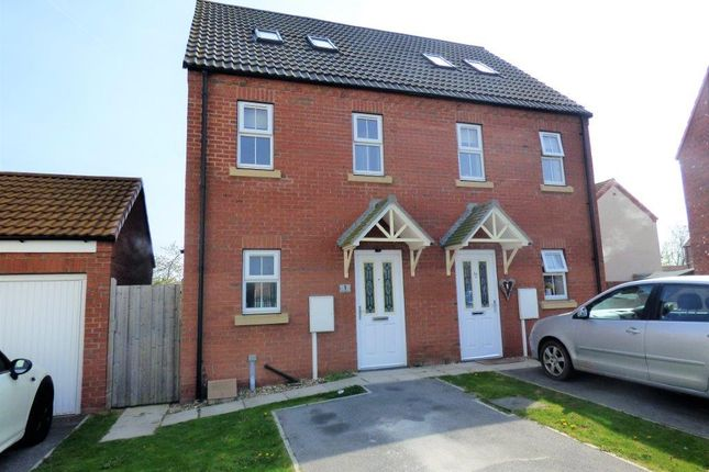 Thumbnail 3 bed semi-detached house to rent in Kristen Turton Close, Holton-Le-Clay, Grimsby