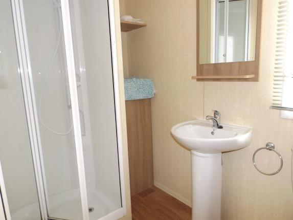 Shower Room of Devon Cliffs Holiday Park, Exmouth, Devon EX8