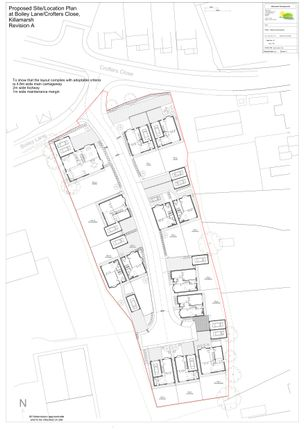 Site Plan of Plot 13, Shepherds View, Killamarsh S21