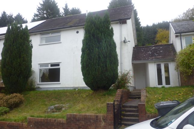 Thumbnail Semi-detached house to rent in Llwyn-Onn, Cwmtaf, Merthyr Tydfil