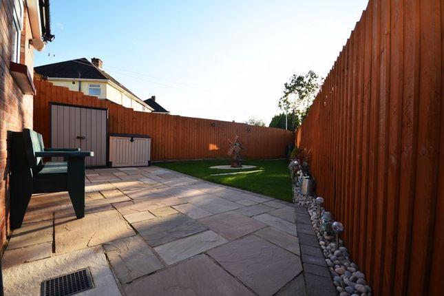 Rear Garden of Elgar Crescent, Llanrumney, Cardiff CF3