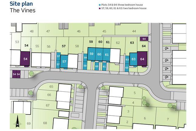 Siteplan of The Vines, Henry Avent Gardens, Plymouth Devon PL9