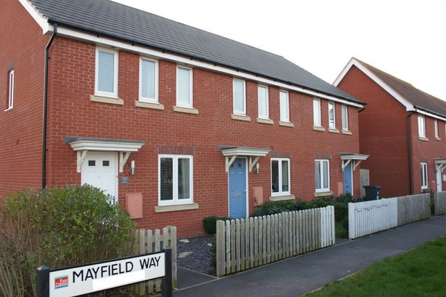 Thumbnail Terraced house for sale in Mayfield Way, Cranbrook, Exeter