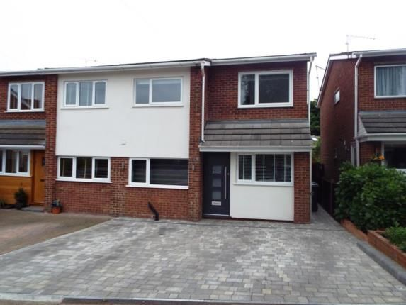 Thumbnail Semi-detached house for sale in Wolves Mere, Woolmer Green, Knebworth, Hertfordshire