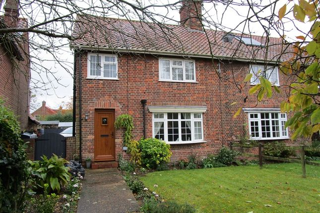 Thumbnail Semi-detached house for sale in Hillington Road, Flitcham, King's Lynn