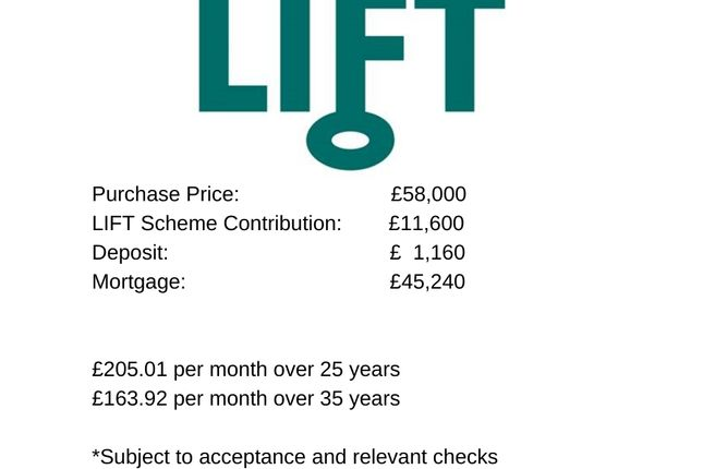 Purchase Price  £58000 Lift Scheme