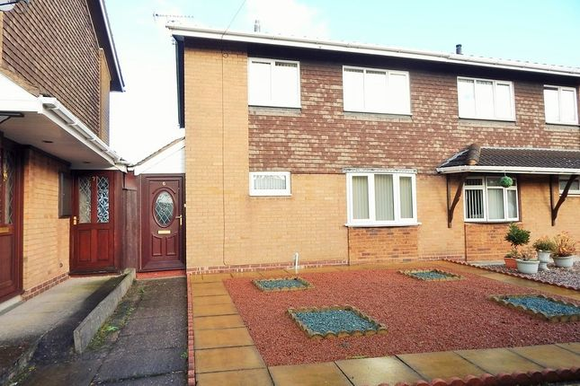Thumbnail Semi-detached house for sale in Darwin Close, Heath Hayes
