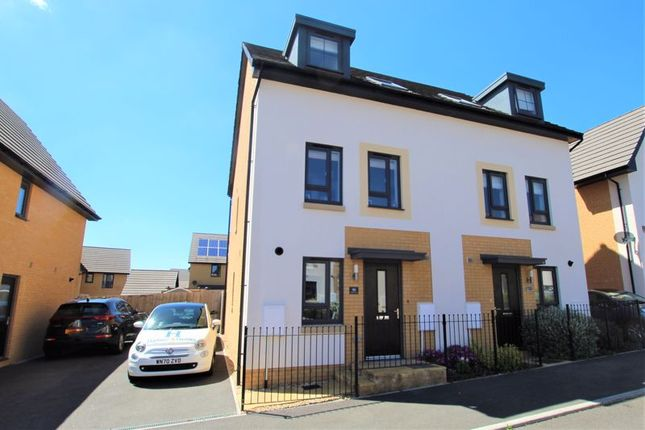 3 bed terraced house for sale in Spindle Crescent, Redwood Heights, Upper Chaddlewood, Plymouth PL7