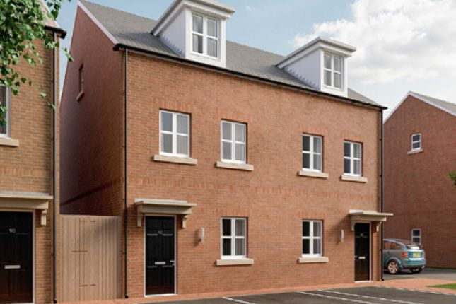 Thumbnail Town house for sale in The Burghclere, Fetlock Drive, Newbury, Berkshire