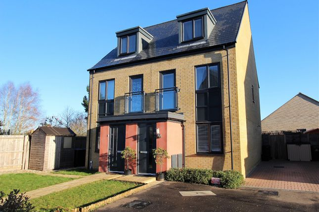Thumbnail Town house for sale in Elvedon Close, Ipswich