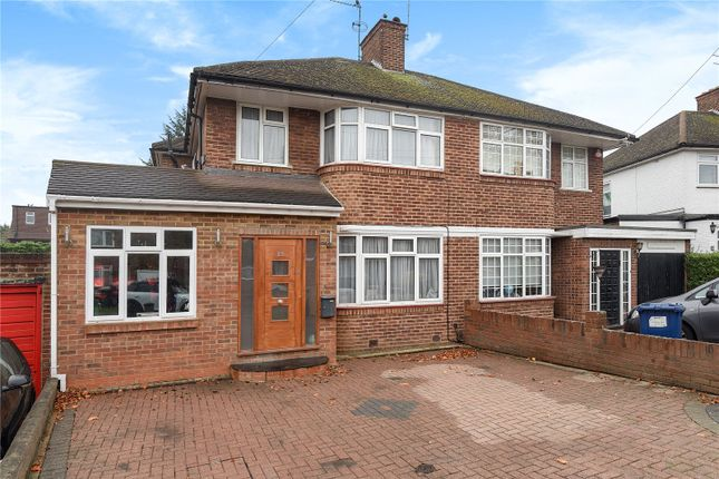 Thumbnail Semi-detached house for sale in Bullescroft Road, Edgware, Middlesex