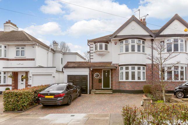 Thumbnail Semi-detached house for sale in Roslyn Gardens, Gidea Park, Romford