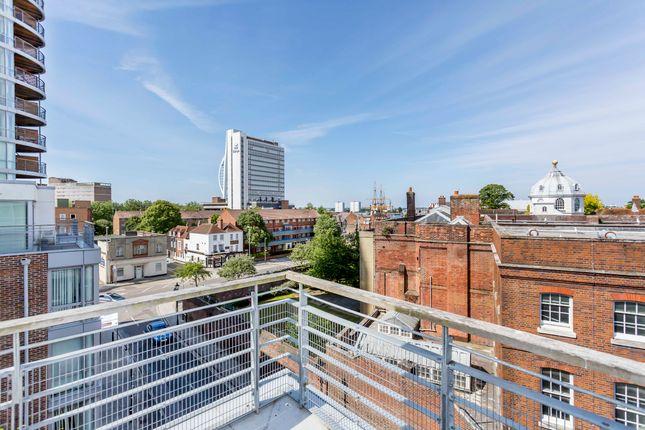 Thumbnail Flat to rent in Marlborough House, Cross Street, Portsmouth