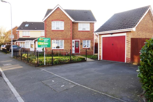 Thumbnail Detached house for sale in Matthysens Way, St. Mellons, Cardiff