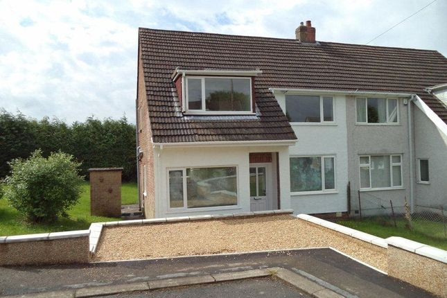 Thumbnail Semi-detached house to rent in Glanrhyd Close, Scwrfa, Tredegar