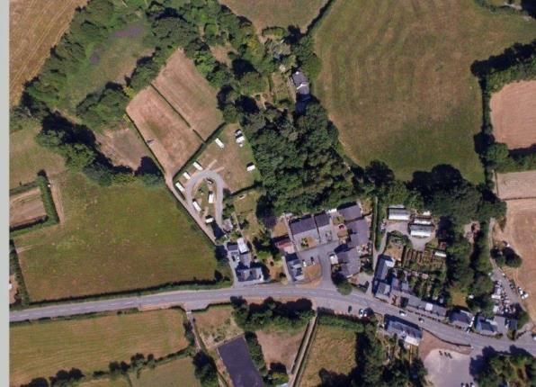 Aerial Views of Tal Y Bont, Conwy, North Wales LL32