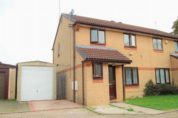 Thumbnail Semi-detached house for sale in Longland Court, The Headlands, Northampton