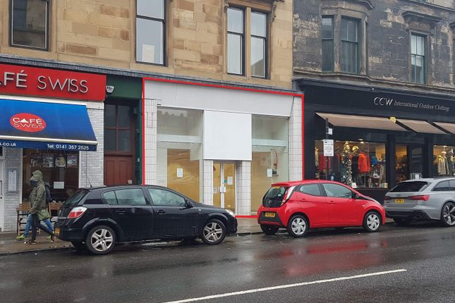 Thumbnail Retail premises for sale in Byres Road, Glasgow