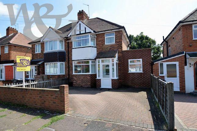 Thumbnail Semi-detached house for sale in Silverdale Road, Erdington, Birmingham