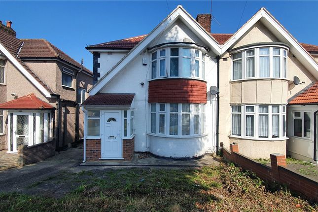 Thumbnail Semi-detached house to rent in Somervell Road, Harrow, Middx