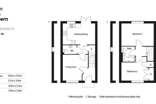2 bedroom terraced house for sale in Barnes Close, Stalbridge