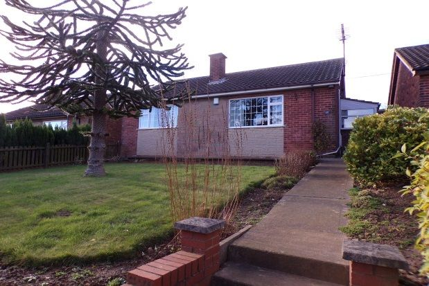 Thumbnail Detached bungalow to rent in Field Drive, Shirebrook